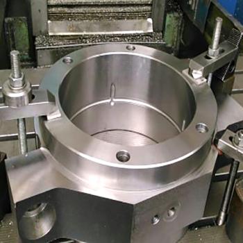 bearing housing for rolls in steel works
