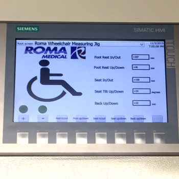 Wheelchair Measuring Jig for Roma Medical