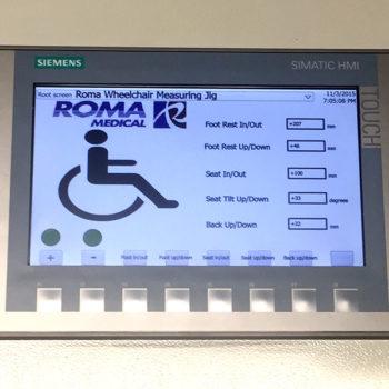 Wheelchair Measuring Jig for Roma Medical