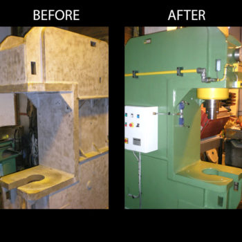 Hydraulic press reconditioned for TATA Steel